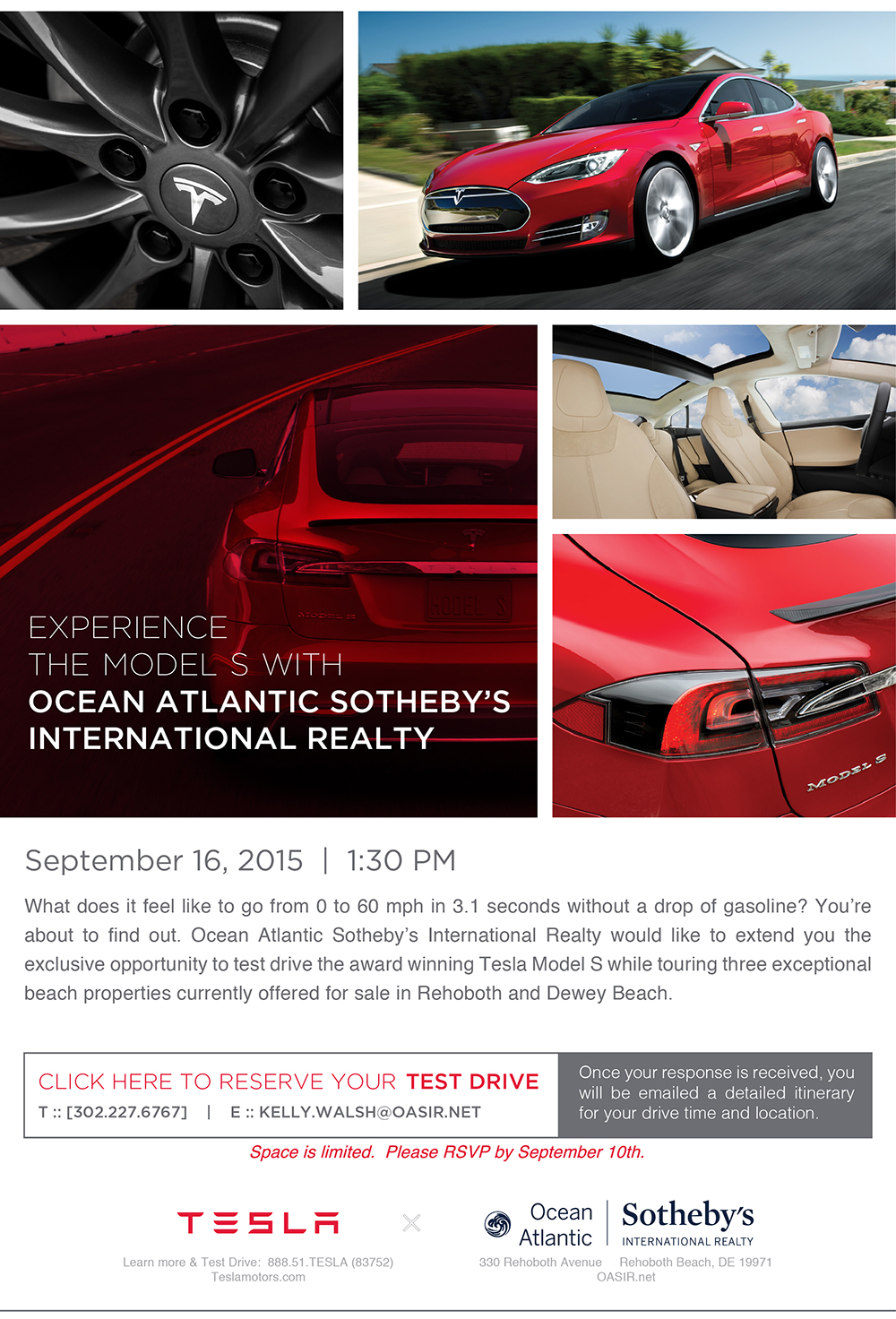 Tesla Test Drive Event presented by Ocean Atlantic Sotheby