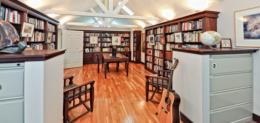 Library of 421 Park Avenue, Lewes, Delaware - represented by Kathleen Schell of Ocean Atlantic Sotheby's International Realty