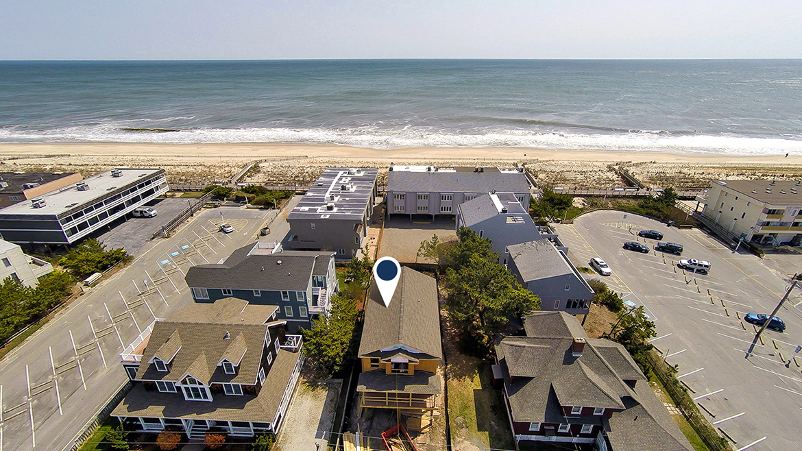 Aerial image of 26 atlantic Avenue, Bethany Beach, Delaware - ocean views