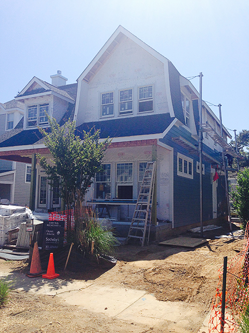 Ocean Atlantic Sotheby's presents 8 Oak Avenue, Rehoboth Beach, Delaware - siding installation
