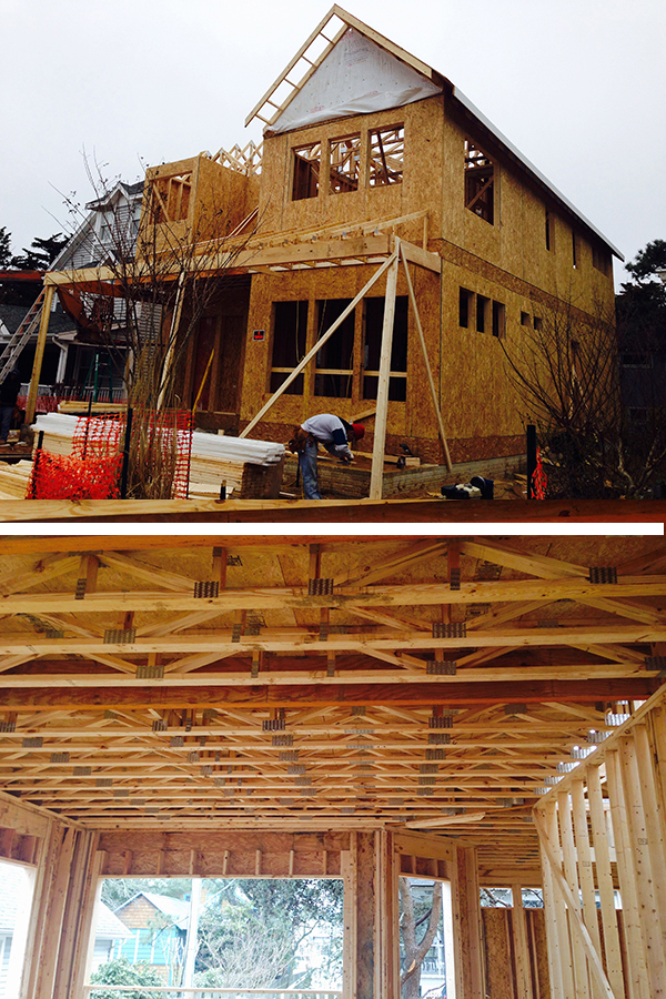 Ocean Atlantic Sotheby's presents 8 Oak Avenue, Rehoboth Beach, Delaware - framing is under way