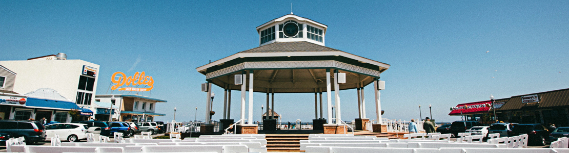 The Iconic Rehoboth Grandstand at the end of Rehoboth Avenue - Rehoboth Beach, Delaware