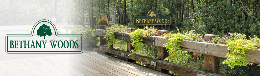 Bethany Woods, Bethany Beach, DE - Nestled between Fresh Pond State Park and the Salt Pond Golf Course, this private community of 19 wooded home sites overlooks the wetlands and Salt Pond.